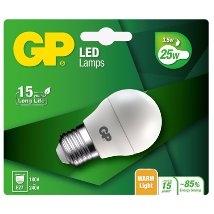 GP Led Mini Globe BL 3,6W E27