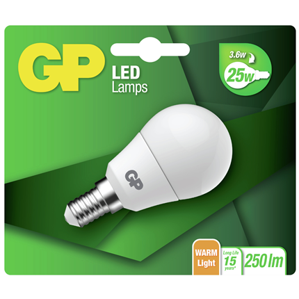 GP Ledlamp Mini Globe E14 3,5W