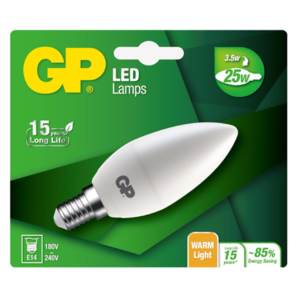 GP Ledlamp Mini Candle E14 3,5W