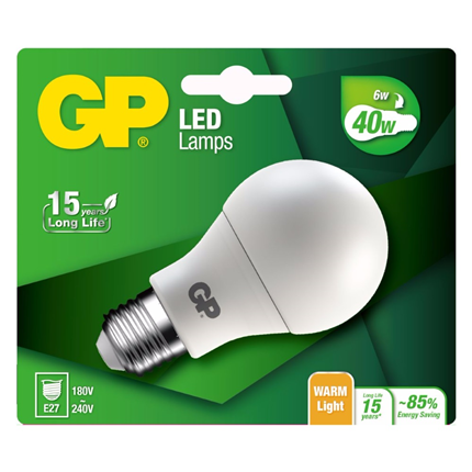 GP Lighting LED Classic BL 6W E27