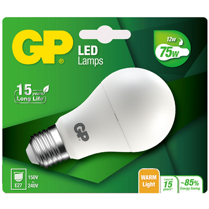 Gp Led Lamp E27 9.5W 1055Lm Classic Mat