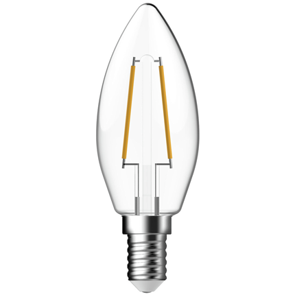 Gp Led Lamp E14 2W 250Lm Kaars Filament