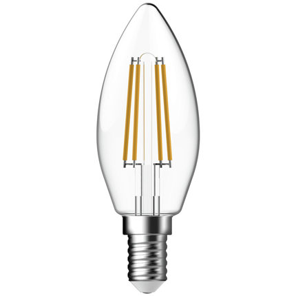 Gp Led Lamp E14 5W 470Lm Kaars Filament Dimbaar
