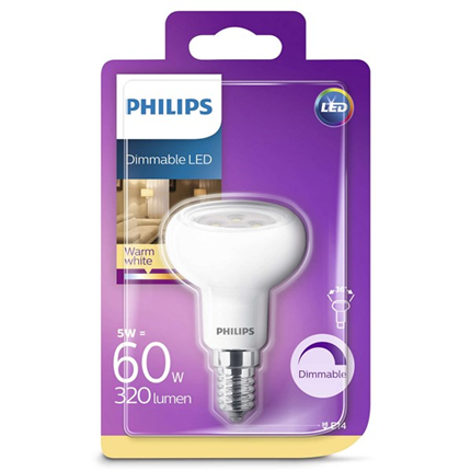 Philips Led Lamp R50 E14 5W 320lm Reflector Dimbaar