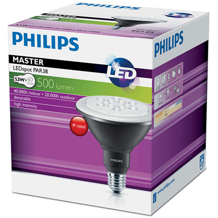 Philips Led D 6-60W ww Par38 25D