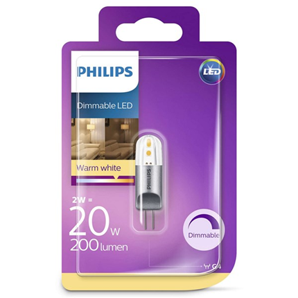 Philips Led Lamp G4 2W 195lm Capsule Dimmable