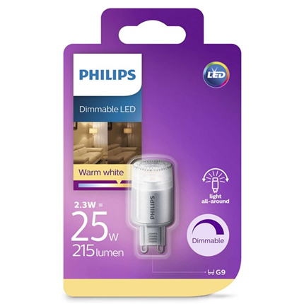 Philips Led Lamp G9 2,3W 215lm Capsule Dimbaar