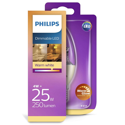 Philips Led Lamp E14 4W 250lm Kaars Helder Dimbaar