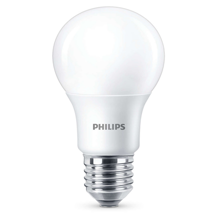 Philips Led Lamp E27 8,5W 806lm Kogel Mat Dimbaar