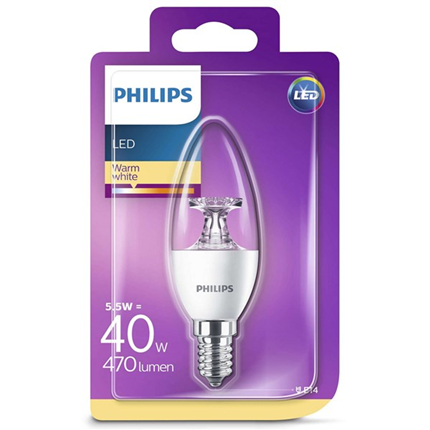 Philips Led Lamp E14 5,5W 470lm Kaars Helder