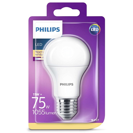 Philips Led Lamp E27 11W 1055lm Kogel Mat