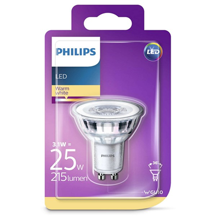 Philips Led Lamp Gu10 3,1W 215lm Reflector