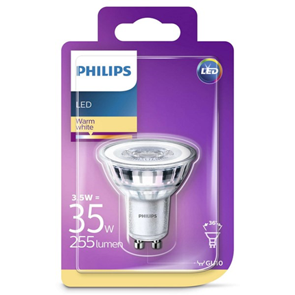 Philips Led Lamp Gu10 3,5W 255lm Reflector