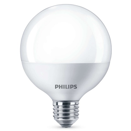 Philips Led Lamp E27 9,5W 806lm Grote Bol Mat