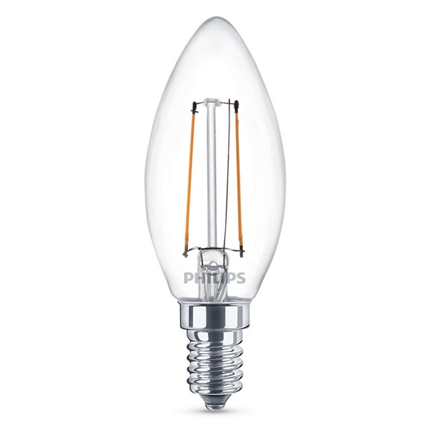 Philips Led Lamp E14 2W 250lm Kaars Filament