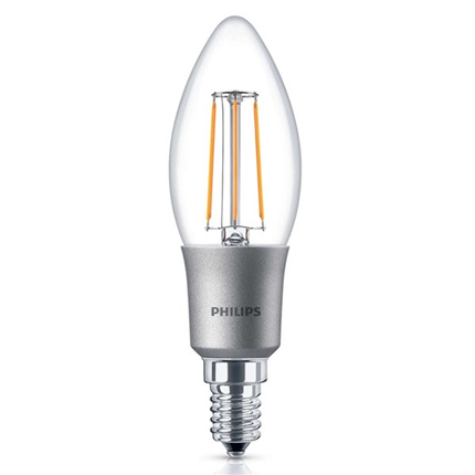 Philips Led Lamp E14 5W 470lm Kaars Filament Dimbaar