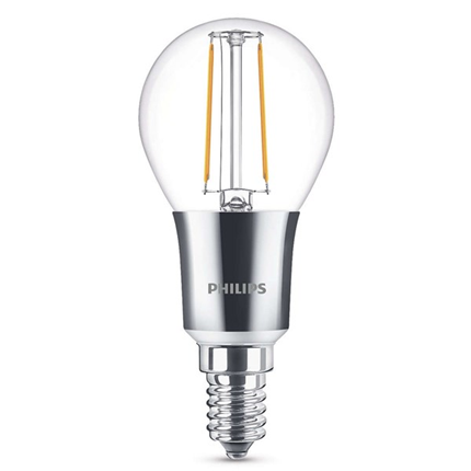 Philips Led Lamp E14 3W 300lm Kogel Filament Dimbaar
