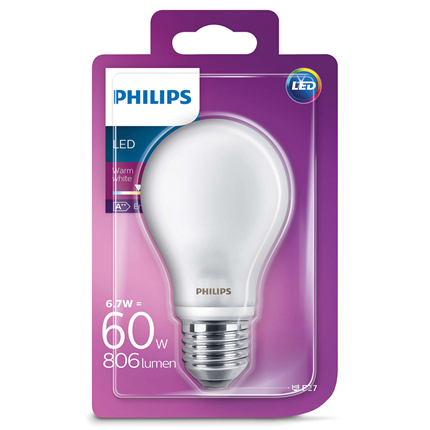 Philips Led Lamp 6.7W (60W) E27 A60