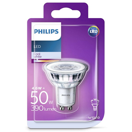 Philips Led Lamp Gu10 4,6W 390lm Reflector Koel Wit