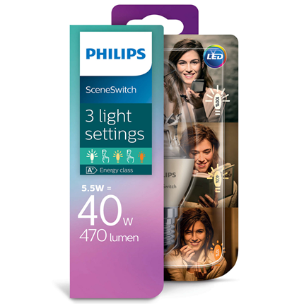 Philips Led Ssw B38 ww Cl 40W E14