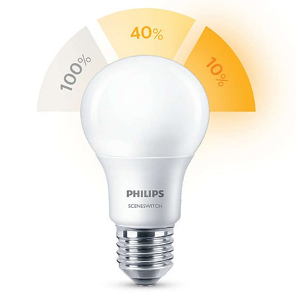 Philips Led Ssw A60 ww Fr 60W E27