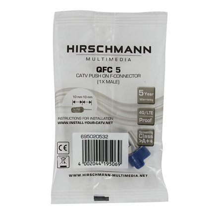 Hirschmann Quick Fix F Connector QFC 5