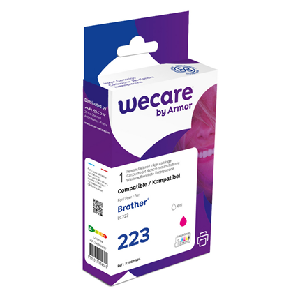 weCare Cartridge Brother LC223 Rood