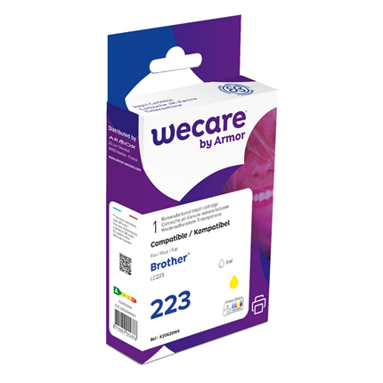 weCare Cartridge Brother LC223 Geel