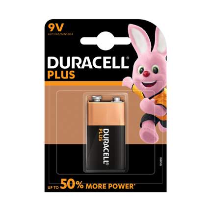 Duracell 9V Plus Power Alkaline Batterij