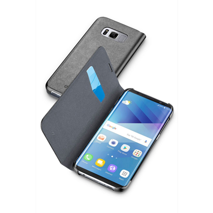 Cellular Line Bookcase Essential Zwart voor Samsung Galaxy S8