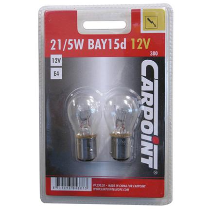 Carpoint Autolamp 21/5W BAY15d