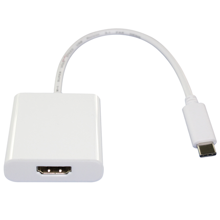 Scanpart Adapter Kabel USB C (M) - HDMI (F) Wit