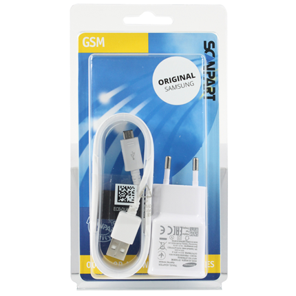 Samsung Snellader Micro USB 2000mA Wit