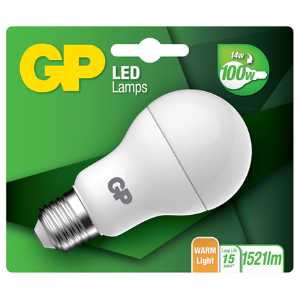 GP LED Lamp Classic E27 14W