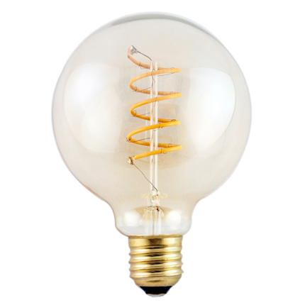 GP LED Lamp Vintage Gold G95 5W E27