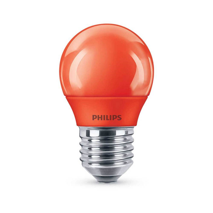 Philips LED Lamp E27 3,1W Mat Rood