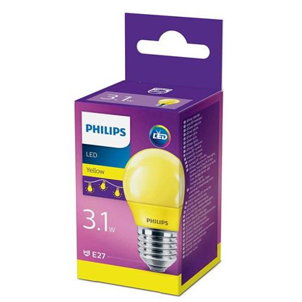 Philips LED Lamp E27 3,1W Mat Geel