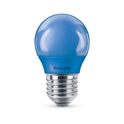Philips LED Lamp E27 3,1W Mat Blauw