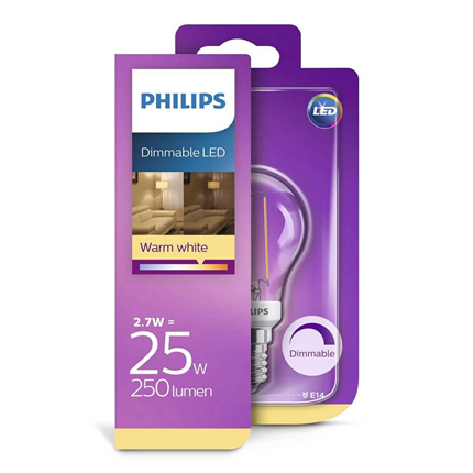 Philips LED Lamp E14 2,7W Dimbaar