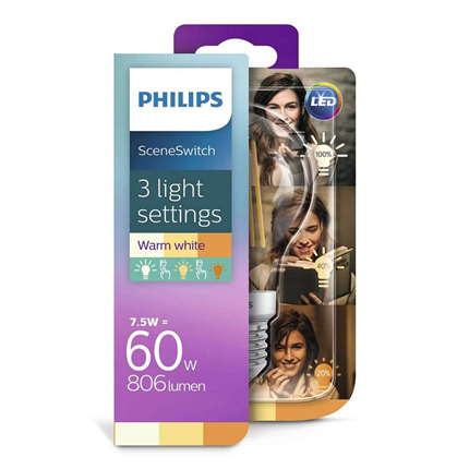 Philips LED Lamp E27 7,5W Scene Switch