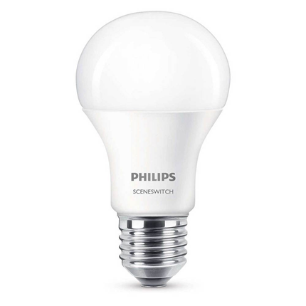 Philips LED lamp E27 9,5W Scene Switch