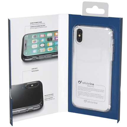 Cellular Line Backcover Transparant Duo voor Apple iPhone X