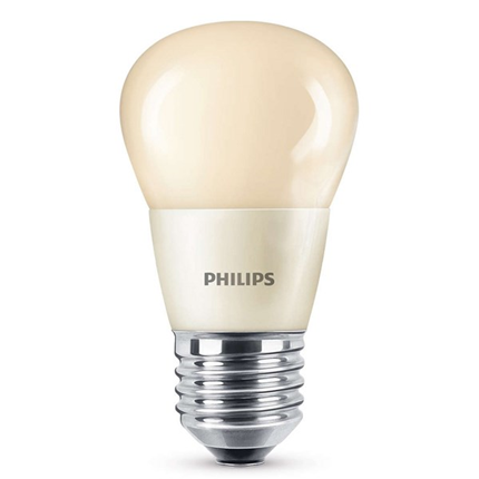 Philips Led Lamp E27 4W 185lm Kogel Flame Dimbaar