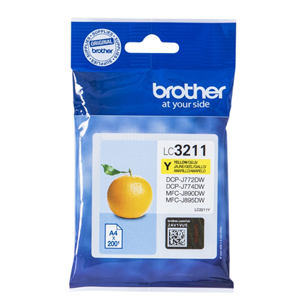 Brother Cartridge LC3211 Geel