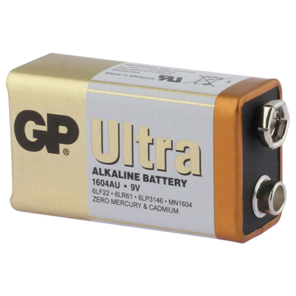 GP 9V Ultra Plus Alkaline Batterij