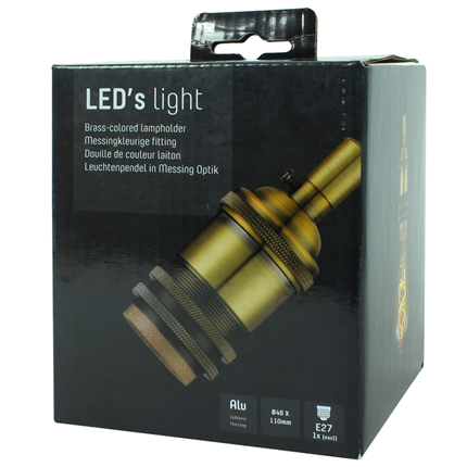 Led's Light Vintage Pendelsnoer E27 100W Messing 1,5 Meter