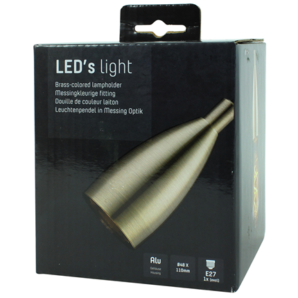 Led's Light Pendelsnoer Klassiek E27 100W Messing 1,5 Meter