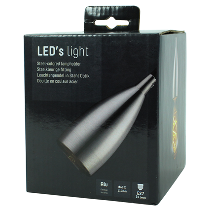 Led's Light Pendelsnoer Klassiek E27 100W Staal 1,5 Meter