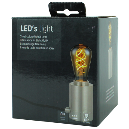 Led's Light Pendelsnoer Staand E27 100W Staal
