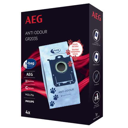 AEG stofzuigerzak S-bag Long Performance Anti-Odour GR203S
